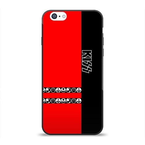 Чехол для Apple iPhone 6 силиконовый глянцевый  Фото 01, Kiss