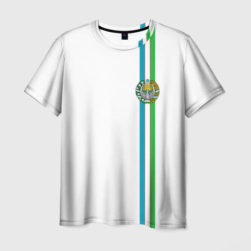 Мужская футболка 3D  Фото 01, Узбекистан, лента с гербом