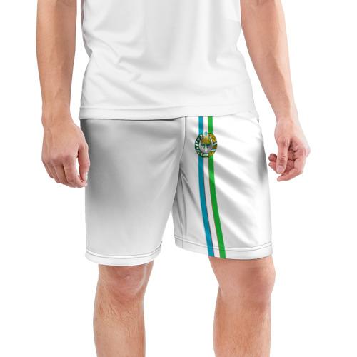 Мужские шорты 3D спортивные  Фото 03, Узбекистан, лента с гербом