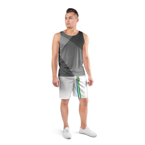 Мужские шорты 3D спортивные  Фото 04, Узбекистан, лента с гербом