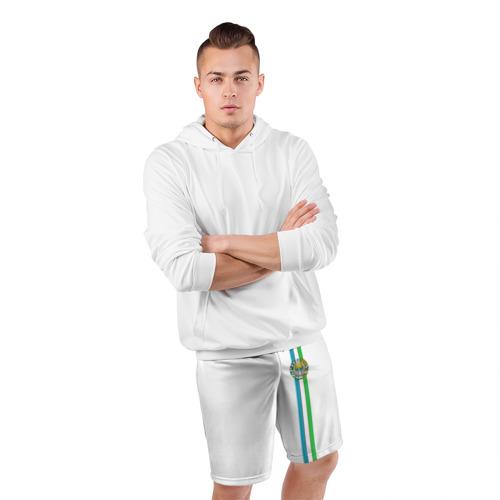Мужские шорты 3D спортивные  Фото 05, Узбекистан, лента с гербом