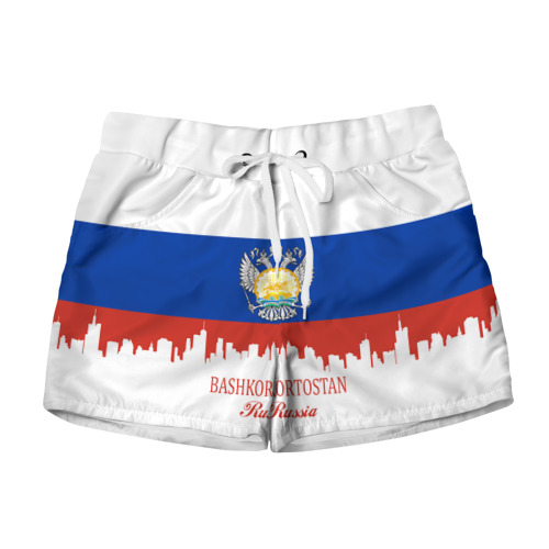 Женские шорты 3D BASHKORTOSTAN (Башкортостан)