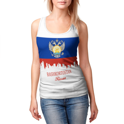 Женская майка 3D  Фото 03, BASHKORTOSTAN (Башкортостан)