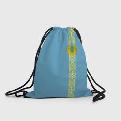 Казахстан, лента с гербом