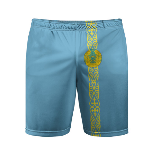 Мужские шорты 3D спортивные  Фото 01, Казахстан, лента с гербом
