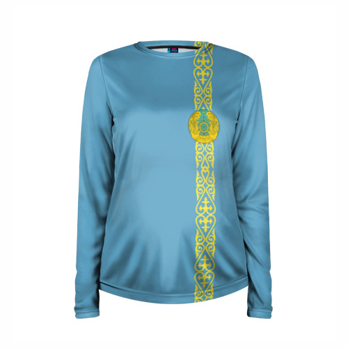 Женский лонгслив 3D для беременных  Фото 03, Казахстан, лента с гербом