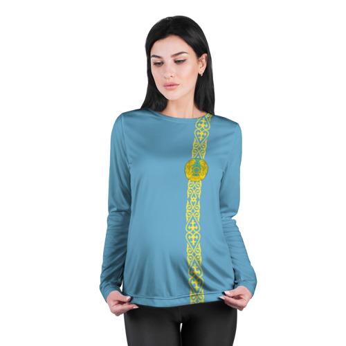 Женский лонгслив 3D для беременных  Фото 04, Казахстан, лента с гербом