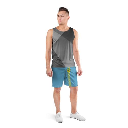Мужские шорты 3D спортивные  Фото 04, Казахстан, лента с гербом