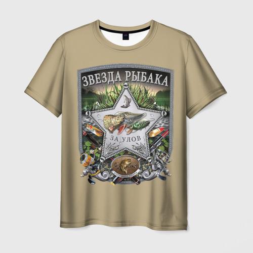 Мужская футболка 3D За улов