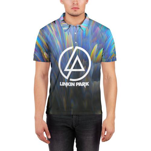 Мужская рубашка поло 3D linkin park