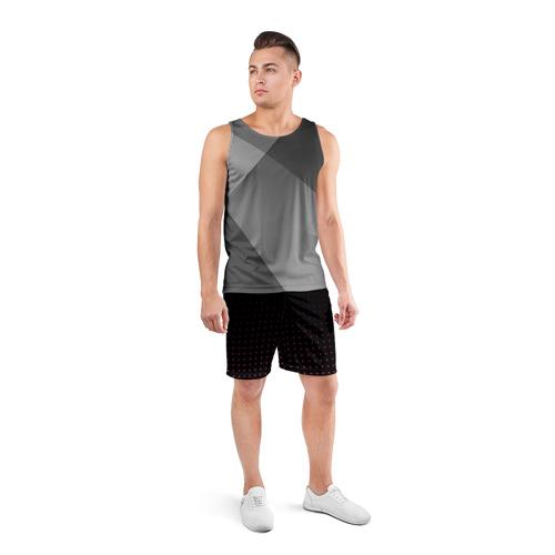 Мужские шорты 3D спортивные  Фото 04, Треугольники Абстакция