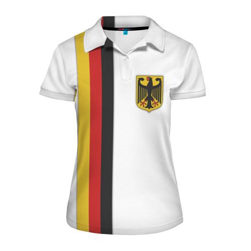 Женская рубашка поло 3D I Love Germany