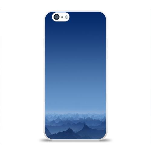 Чехол для Apple iPhone 6 силиконовый глянцевый  Фото 01, Blue Mountains
