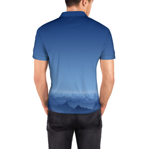 Мужская рубашка поло 3D  Фото 04, Blue Mountains