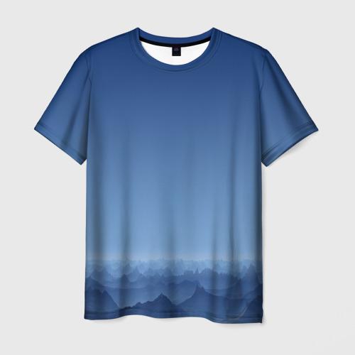 Мужская футболка 3D Blue Mountains