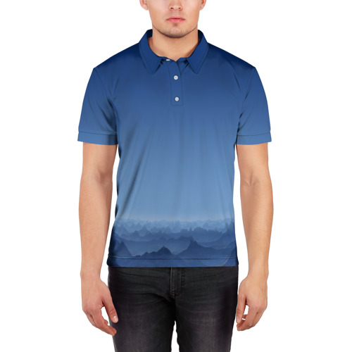 Мужская рубашка поло 3D  Фото 03, Blue Mountains