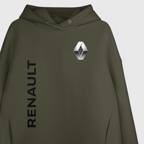 Женское худи Oversize хлопок Renault Фото 01