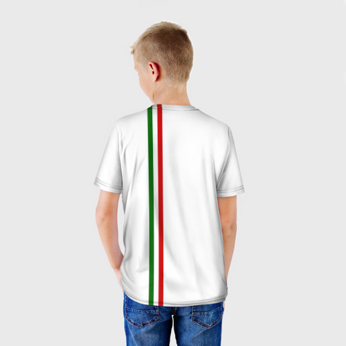 Детская футболка 3D  Фото 02, Таджикистан, лента с гербом