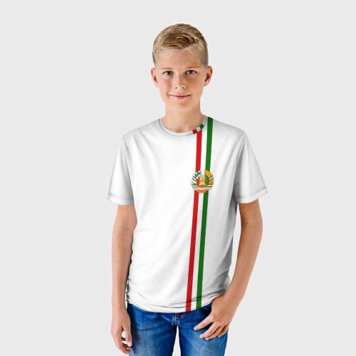 Детская футболка 3D  Фото 01, Таджикистан, лента с гербом