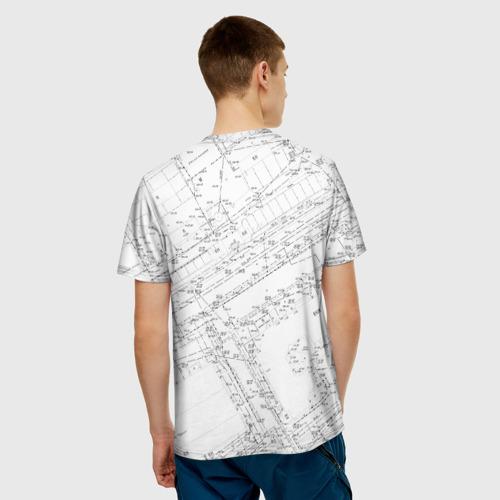 Мужская футболка 3D Топография_01 Фото 01