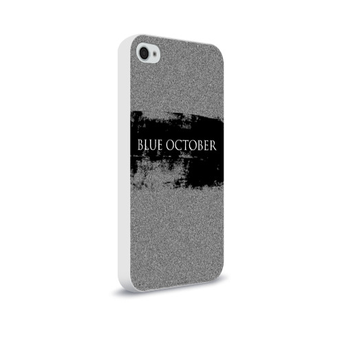 Чехол для Apple iPhone 4/4S soft-touch  Фото 02, Blue October
