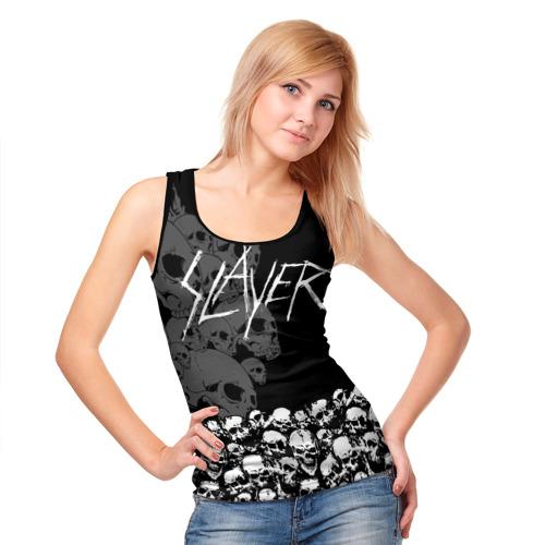 Женская майка 3D  Фото 05, Slayer Black