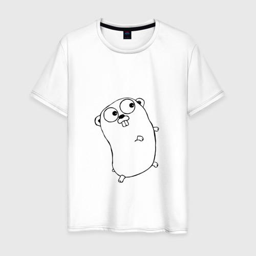 Мужская футболка хлопок Golang
