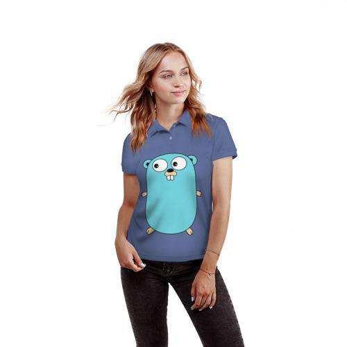 Женская рубашка поло 3D  Фото 03, Golang