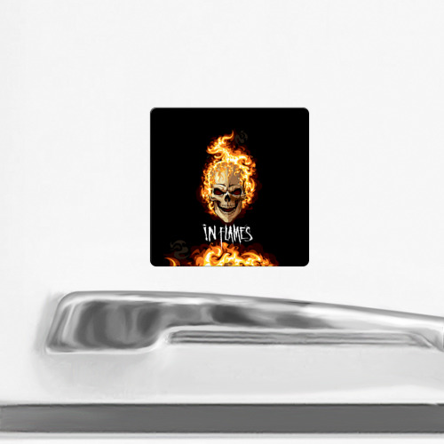 Магнит виниловый Квадрат  Фото 02, В пламени