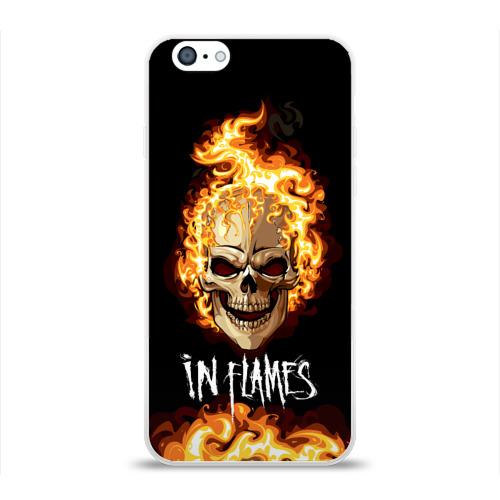 Чехол для Apple iPhone 6 силиконовый глянцевый  Фото 01, В пламени