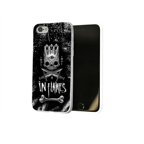 Чехол для Apple iPhone 8 силиконовый глянцевый  Фото 02, In Flames King