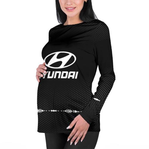 Женский лонгслив 3D для беременных  Фото 01, Hyundai sport auto abstract