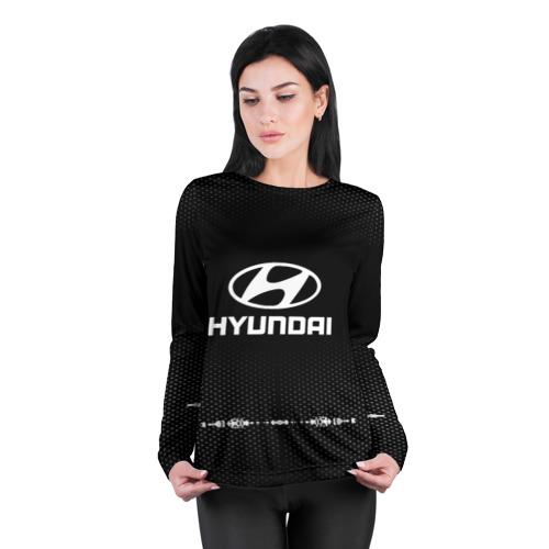 Женский лонгслив 3D для беременных  Фото 04, Hyundai sport auto abstract
