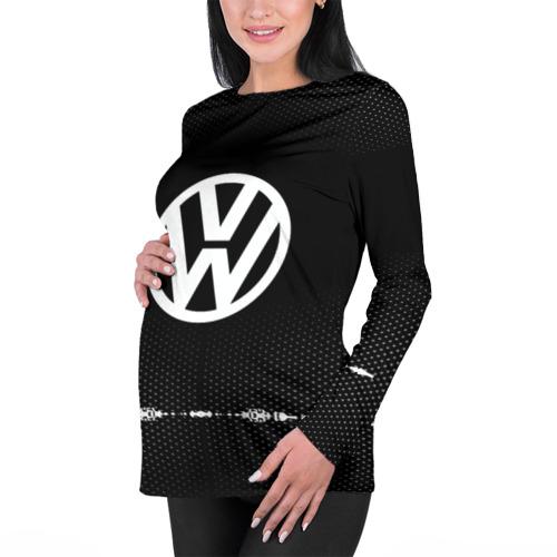 Женский лонгслив 3D для беременных  Фото 01, Volkswagen sport auto abstract