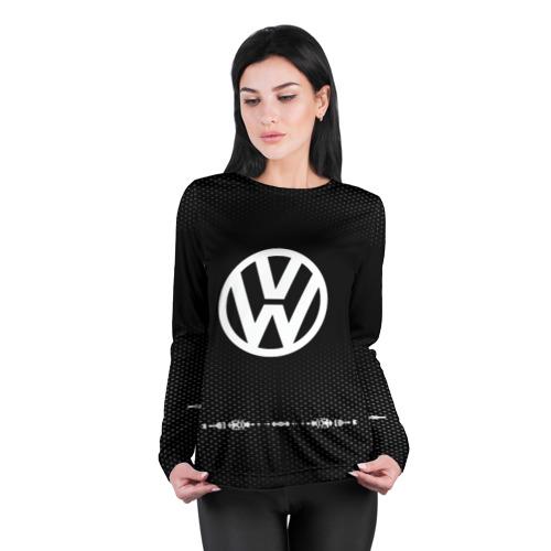 Женский лонгслив 3D для беременных  Фото 04, Volkswagen sport auto abstract