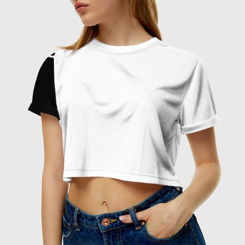 Женская футболка 3D укороченная  Фото 01, Volkswagen sport auto abstract