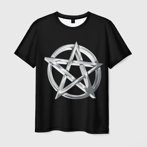 Мужская футболка 3D Пентаграмма Фото 01