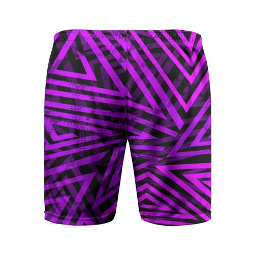 Мужские шорты 3D спортивные  Фото 02, Неоновая геометрия