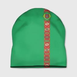 Туркменистан, лента с гербом