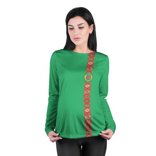 Женский лонгслив 3D для беременных  Фото 04, Туркменистан, лента с гербом
