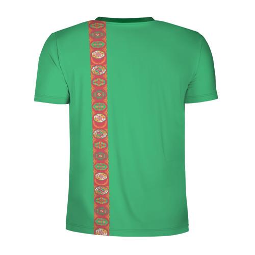 Мужская футболка 3D спортивная  Фото 02, Туркменистан, лента с гербом