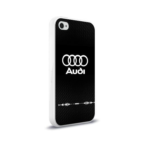 Чехол для Apple iPhone 4/4S силиконовый глянцевый  Фото 02, Audi sport auto abstract