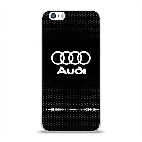 Чехол для Apple iPhone 6 силиконовый глянцевый  Фото 01, Audi sport auto abstract