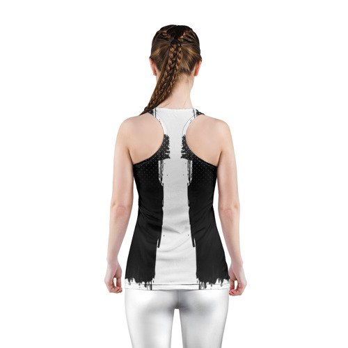 Женская майка 3D спортивная  Фото 04, Real Madrid sport uniform colo