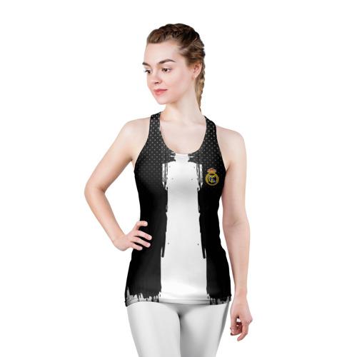 Женская майка 3D спортивная  Фото 03, Real Madrid sport uniform colo