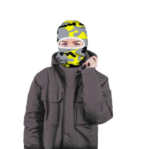 Балаклава 3D  Фото 04, Yellow camouflage
