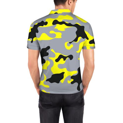Мужская рубашка поло 3D  Фото 04, Yellow camouflage