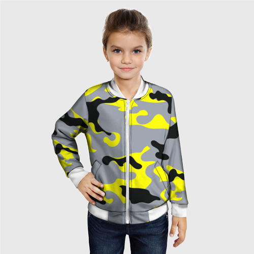 Детский бомбер 3D  Фото 06, Yellow camouflage