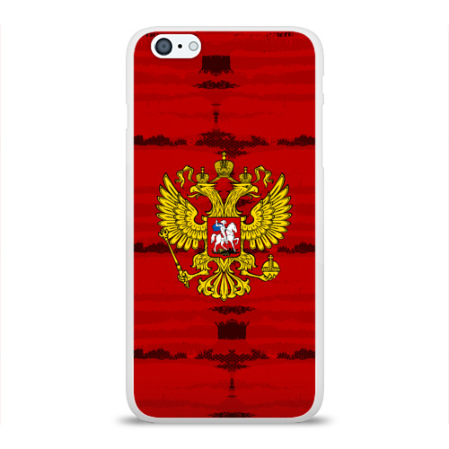 Чехол для Apple iPhone 6Plus/6SPlus силиконовый глянцевый  Фото 01, Russia Imperium RED