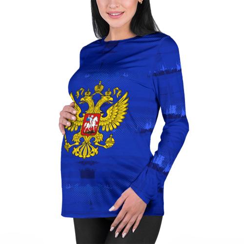 Женский лонгслив 3D для беременных  Фото 01, Russia Imperium Blue
